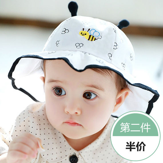 Baby hat summer 0-3-6-12 months baby mesh basin cap visor summer thin section sun hat fisherman hat