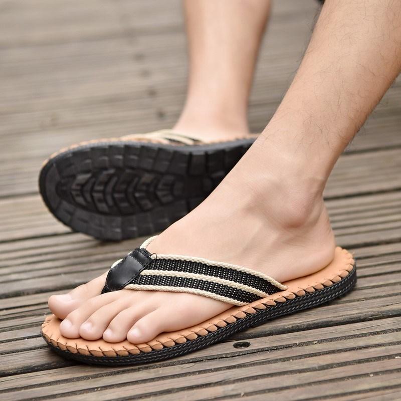 男生人字拖男拖鞋男外穿厚底防滑沙滩鞋凉鞋拖鞋夹脚男士夏天耐磨图片