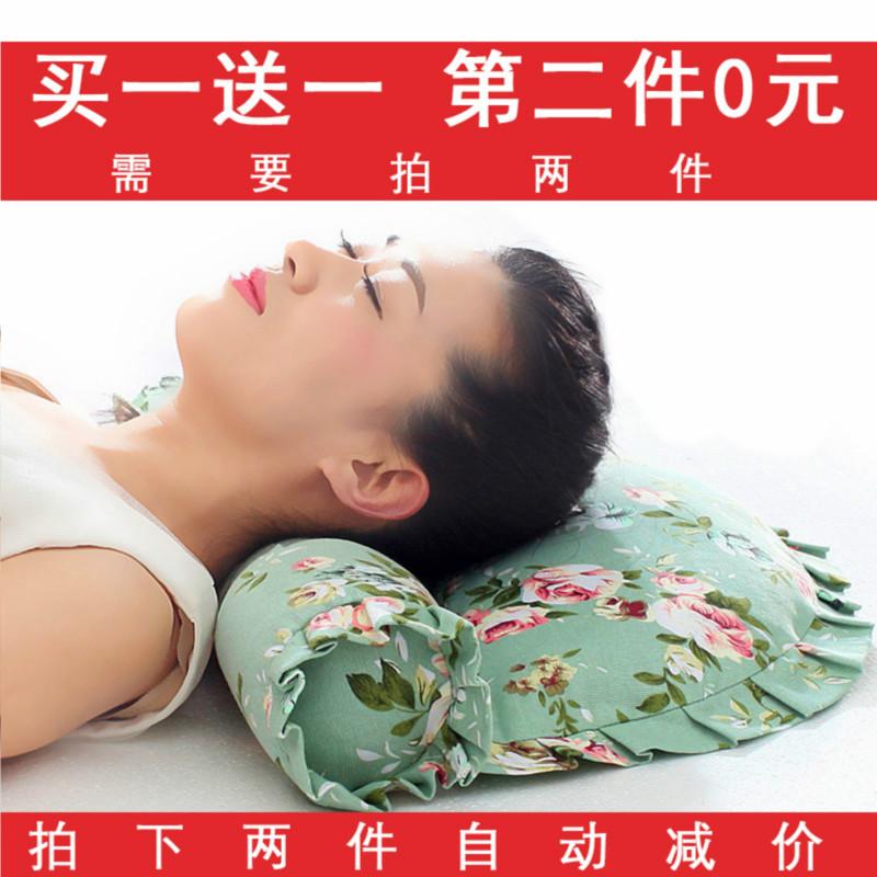 颈椎枕头修复护颈椎专用脖枕成人脊椎保健枕单人圆柱枕头荞麦枕芯