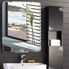 Bathroom mirror wall hanging bathroom mirror mirror punch-free makeup mirror wall mirror explosion-proof paste bathroom mirror