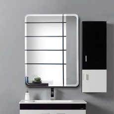 Simple European Paste Bathroom Mirror Frameless Toilet Bathroom Mirror Bathroom Mirror Wall Mount Mirror Makeup Mirror