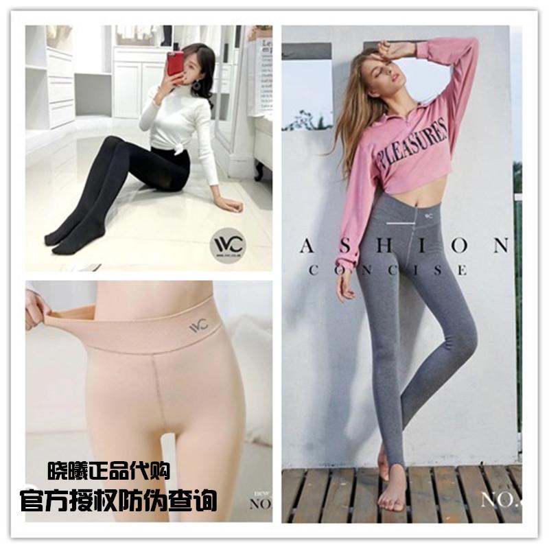 韩国新款VVC瘦腿袜子女神V1V3 V6号秋冬灰肤色光腿神器加绒打底裤