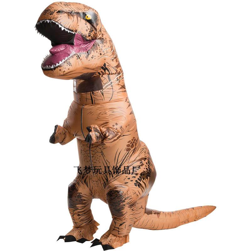 霸王龙恐龙暴龙**T-REX Costume充气表演圣诞酒吧学校元旦服装