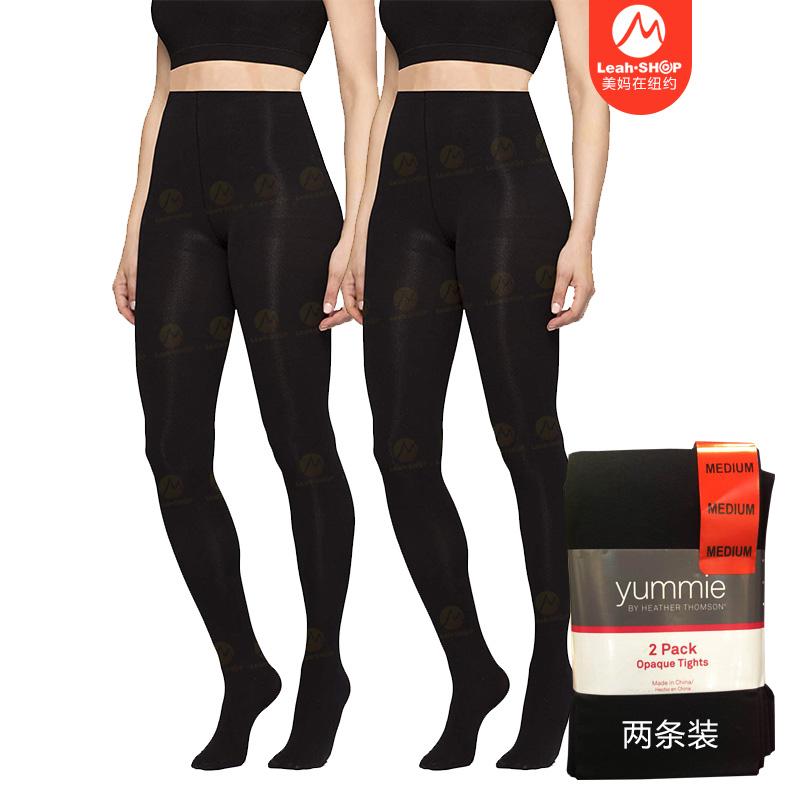 【美妈在纽约】Yummie女士连裤袜防勾丝厚款打底裤秋冬高腰 2条装
