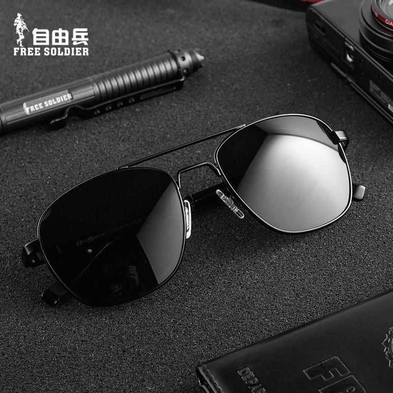 战术通勤眼镜男士户外偏光太阳镜经典蛤蟆镜潮流开车墨镜防紫外线