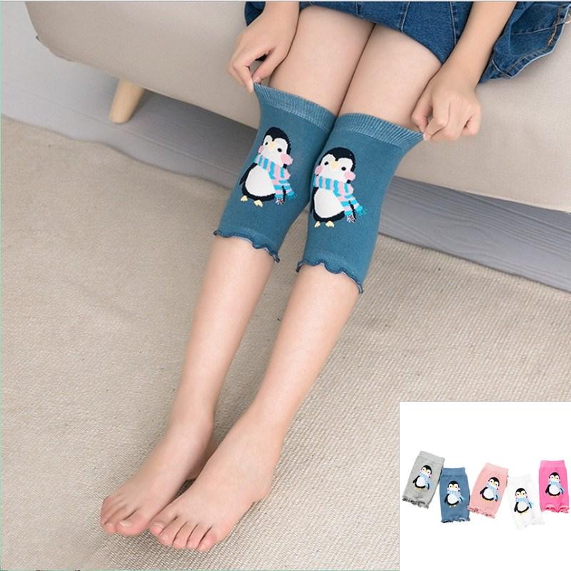 儿童护膝防摔卡通纯棉袜套宝宝空调护膝女童防滑护肘舞蹈护膝夏季