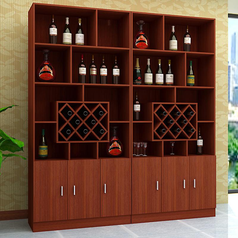 现代简约中式小酒柜餐边柜隔断柜储物柜带门双门三门客厅特价包邮图片