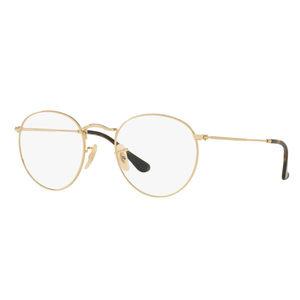 【直营】美国RayBan雷朋进口男女近视圆形金属全框眼镜架RX3447V