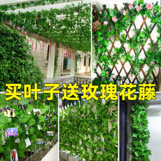 Simulation grape leaf fake flower rattan leaves green leaf water pipe cover ceiling decoration plastic green plant entanglement