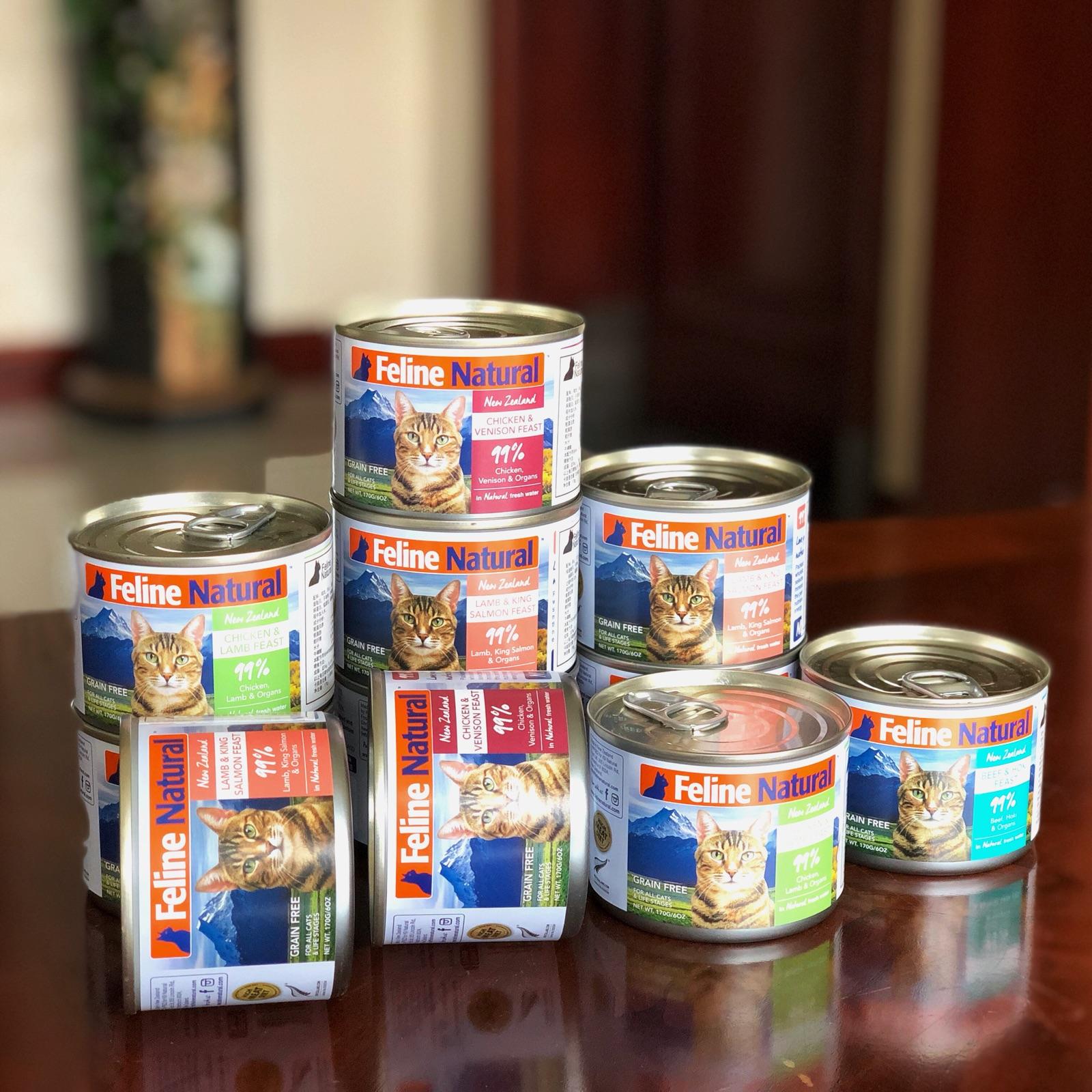 新西兰K9 Natural天然无谷成幼猫罐头湿粮主食罐170g*12口味可选