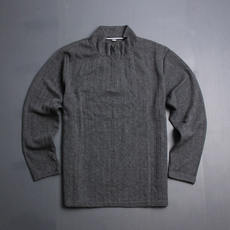 Half zip knit sweater Korean version of loose casual fashion simple bottoming shirt sweater long sleeve t-shirt men's clothing