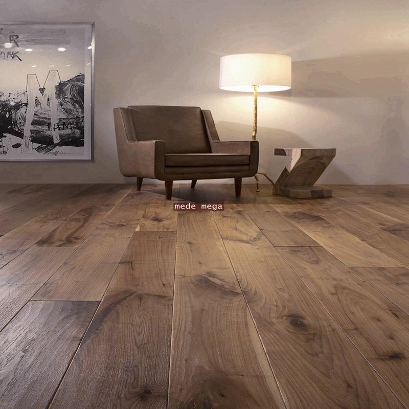 大板三层地板/黑胡桃多层实木地热锁扣地板15厚人字拼鱼骨拼地板