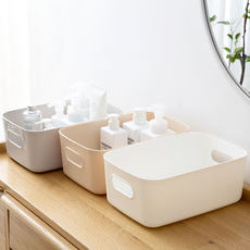 Plastic storage basket bathroom bathroom cosmetics storage basket finishing box kitchen desktop sundries snack storage box