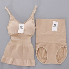 柏尚收收衣合体套装 Postpartum maternal plastic type support chest waist hip body body four seasons enhanced version of genuine