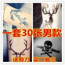 Tattoo stickers waterproof male durable simulation tattoo blue totem chest small pattern Korean personality simulation permanent hand back