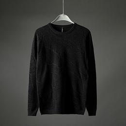 2018秋冬季新款毛衣男长袖修身纯色弹力青年套头圆领针织衫A8688