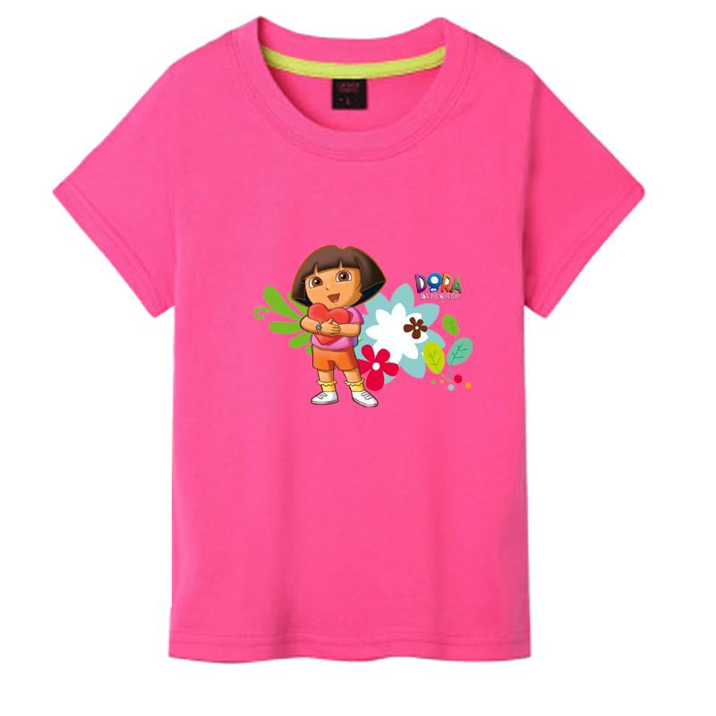 朵拉夏天衣服 女童短袖t恤 dora 朵拉童装 爱冒险的朵拉儿童衣服图片