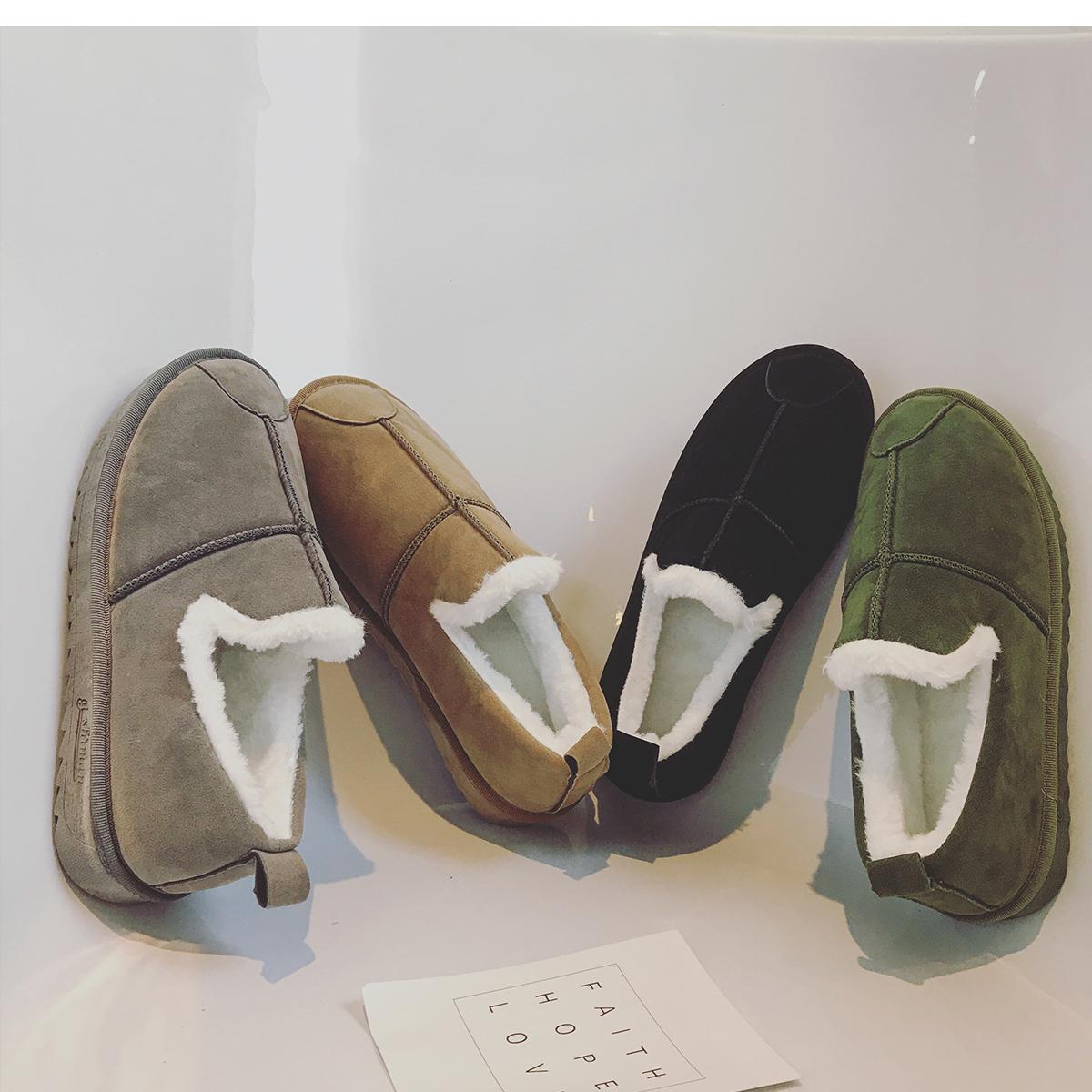 文艺男女店男士靴子冬季韩版雪地靴潮流男鞋休闲皮毛一体保暖鞋子