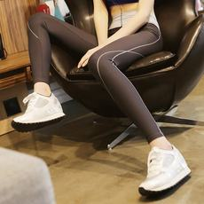 Autumn models were thin sports fitness pants women's quick-drying trousers fitness clothes stretch tight large size yoga clothes running pants