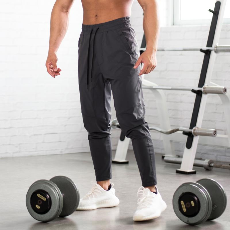 EVENSO Sweat运动健身长裤弹力速干九分裤透气收腿束口健身裤男春