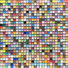 Candy Multicolored Crystal Mosaic Waist Line Color Background Wall Bathroom Children's Room Small Particle Tile Wall Tile
