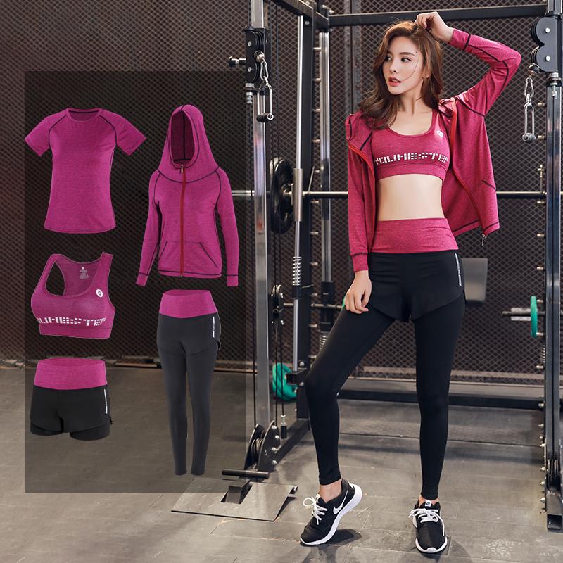 韩版运动瑜伽服套装女健身房专业跑步速干衣宽松长袖弹力晨跑秋冬