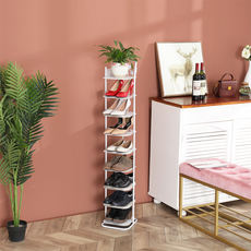 European wrought iron shoe rack economical household multi-layer storage shoe cabinet living room dormitory dust-proof small shoe rack simple shoe rack