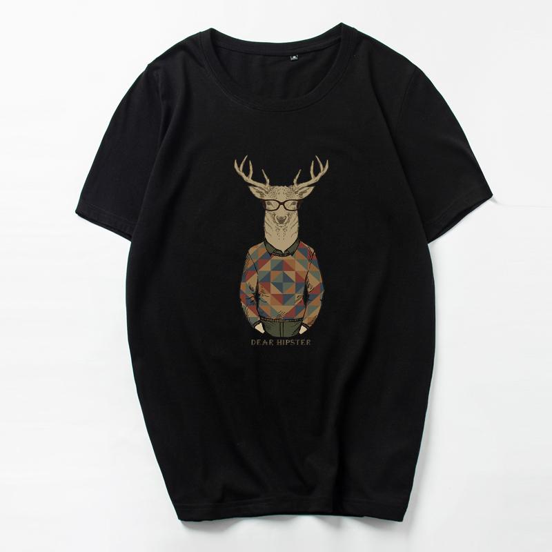 韩版潮流男士短袖T恤半袖加大码纯棉圆领欧美街头 潮牌夏青年学生