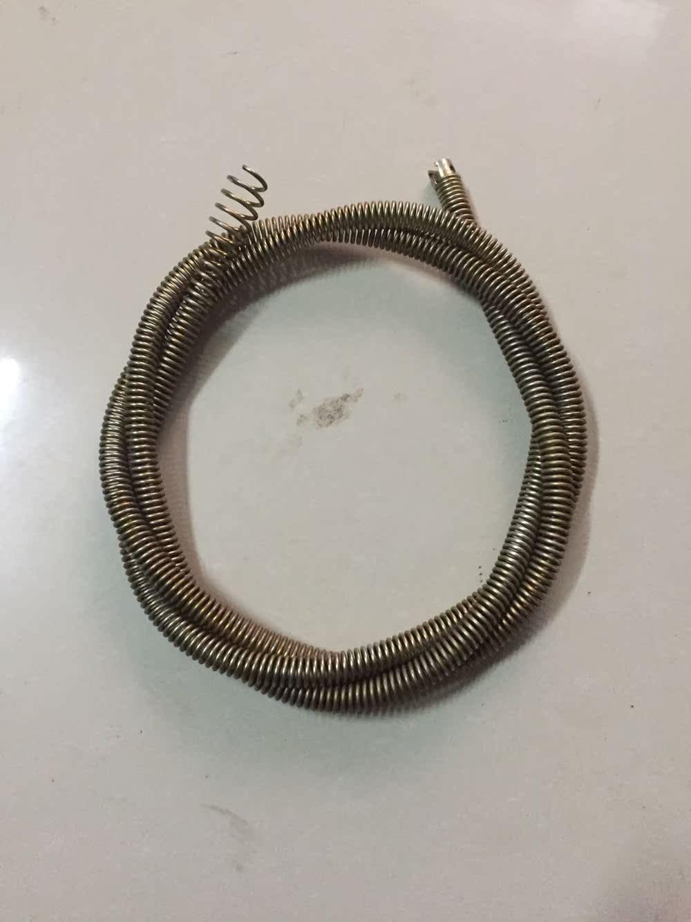 电动管道疏通清洗配件软簧、蓬头簧橄榄头簧电动马桶地漏下水道