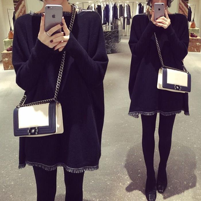 孕妇秋装套装时尚款2018新款两件套韩版潮妈上衣冬装中长款连衣裙