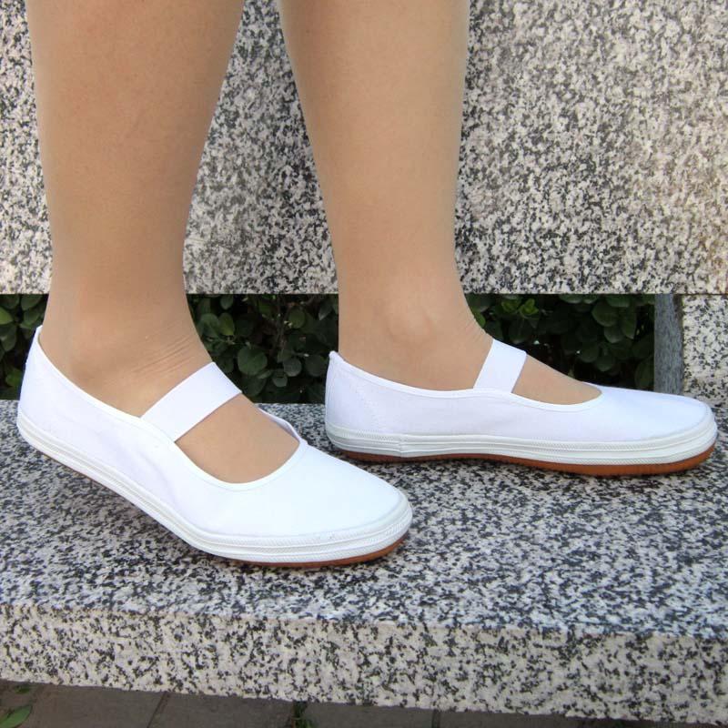 环球鞋舞蹈表演鞋全码中小学生团体操鞋运动鞋白球鞋护士鞋彩舞鞋