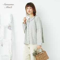 SM2 18 spring and summer new Mori girl Japanese solid color linen jacket round neck long sleeve shirt F0181I100