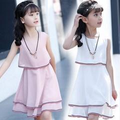 韩版连衣裙2018新款夏装中大童7雪纺裙子9套装10儿童装12女童5岁