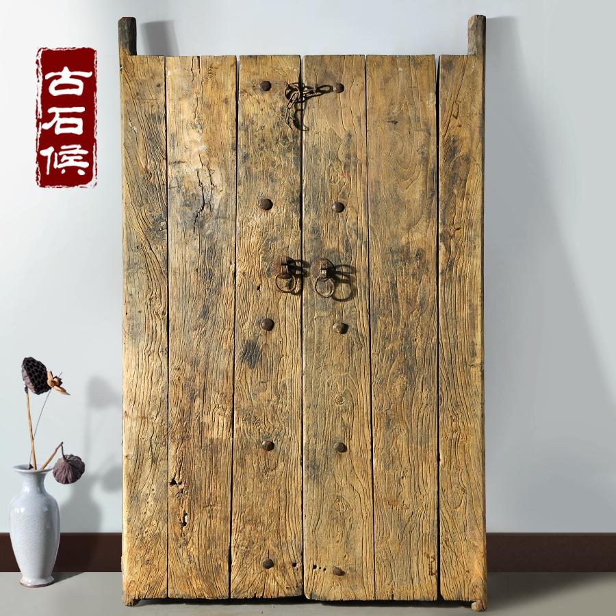 精选老榆木门板 一物一拍全实景 老门板桌面风化木独板可改造台面