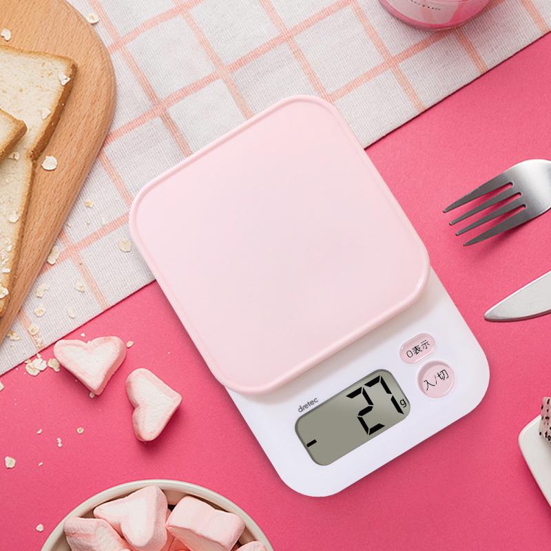 日本 Dretec多利科厨房秤 1克高精度电子秤 去皮 烘焙小秤 现货