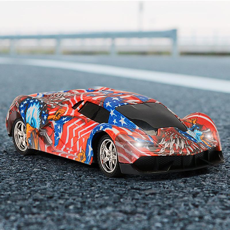 儿童玩具车无线遥控车电动漂移充电男孩个性涂鸦赛车模型摇控汽车