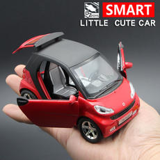 Child boy cute toy car model Mercedes-Benz SMART alloy car model fun simulation pull back sound and light
