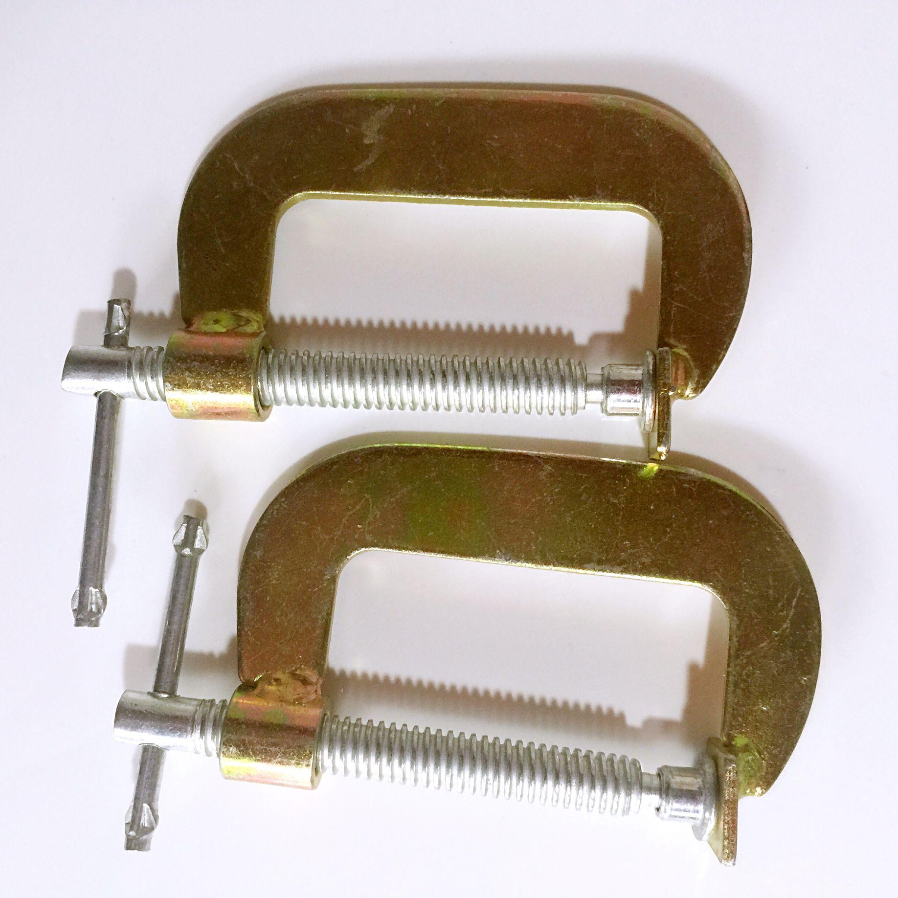 G字夹木工夹固定夹c型夹具3寸4寸5寸6寸g型摇杆夹子包邮石材夹子