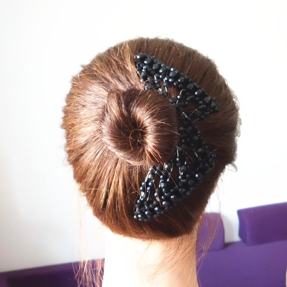 韩式珍珠头饰 神奇百变发夹 魔术发梳珍珠插梳盘发器水晶发卡卷发图片