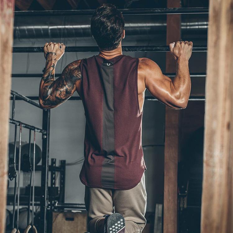 肌肉新款男士纯棉跑步兄弟运动休闲无袖宽松T恤透气坎肩健身背心
