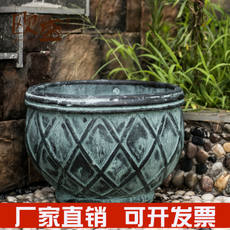 Ou Sheng retro old large potted flower pottery pottery home gardening outdoor garden floor pottery
