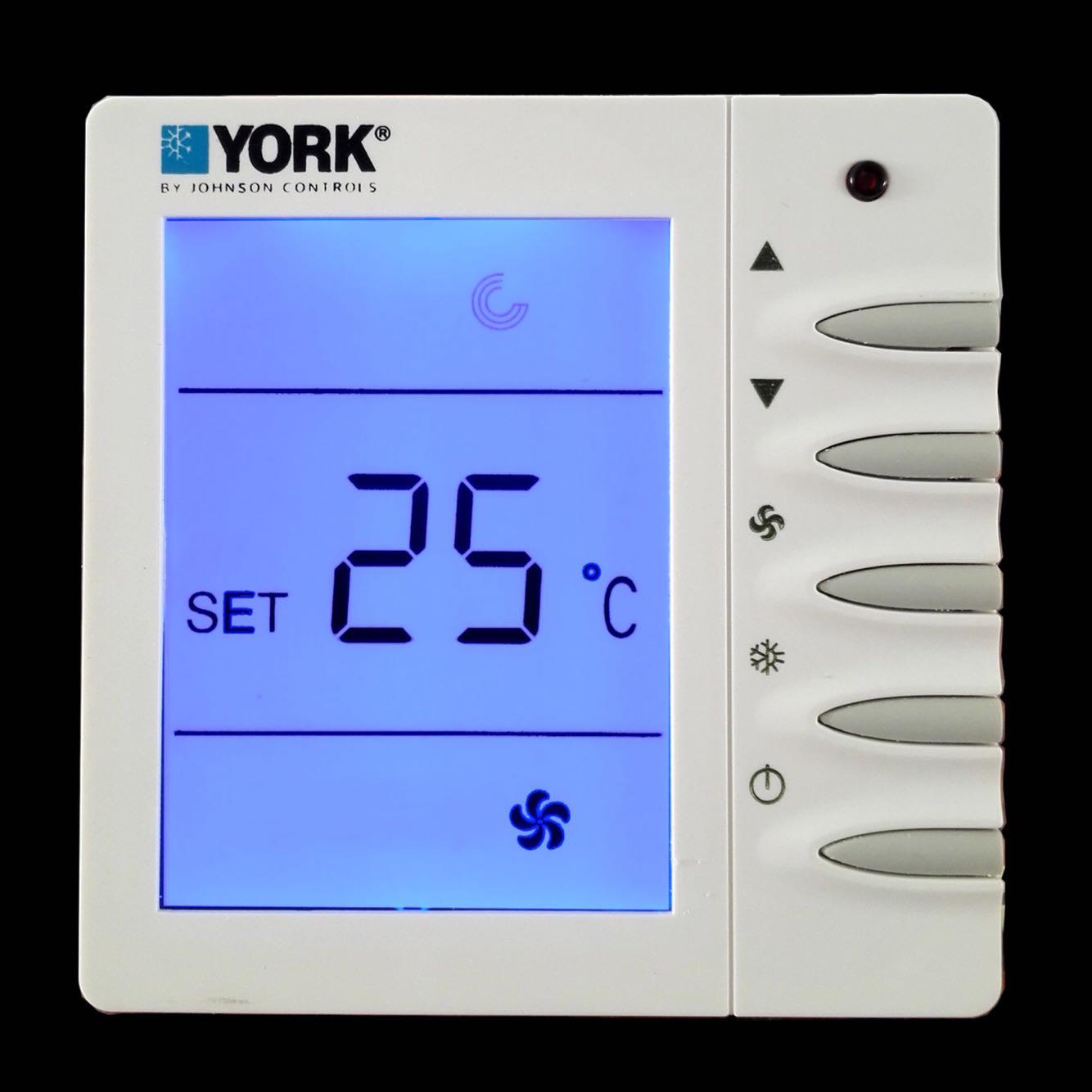 正品约克APC-TMS2000DB 中央空调液晶温控器风机盘管控制面板包邮