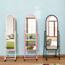 Mirror storage wall hanging body mirror floor fitting mirror body floor mirror Mirror dormitory far grid