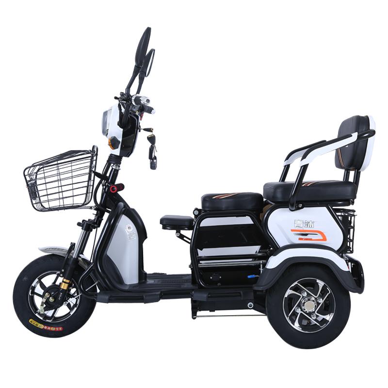 电动三轮车电三轮电瓶车代步车家用迷你小型休闲新款接送孩子带棚