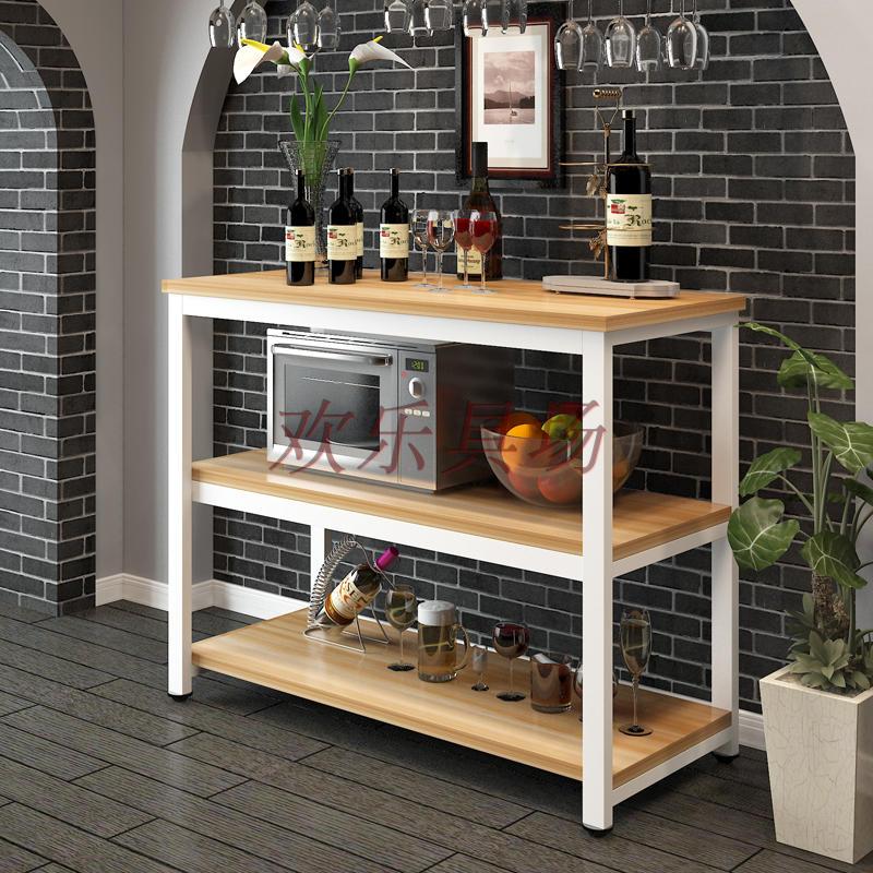桌子厨房切菜桌操作台桌微波炉架多功能落地置物桌简易长桌定制