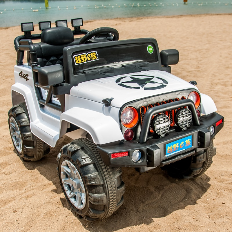 4轮越野儿童电动车四轮玩具充电汽车可坐人小孩宝宝四驱遥控童车