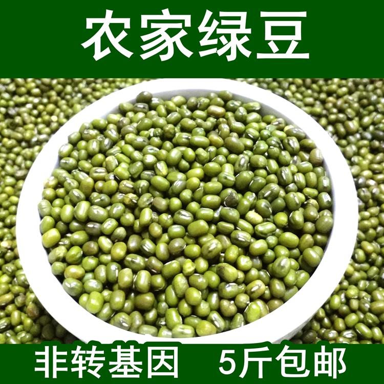 绿豆 云南农家 小绿豆 500g笨绿豆夏天绿豆汤五谷杂粮 5斤包邮