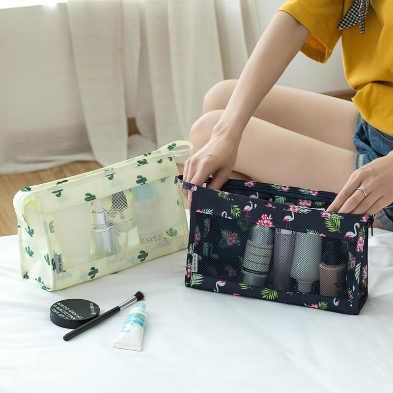 旅行化妆包便携韩国简约大容量多功能小号手提收纳品袋可爱洗漱包