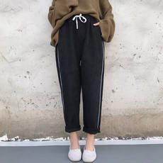 Spring and summer female pants 2018 new nine pants female thin section casual trousers black harem pants suit feet pants tide