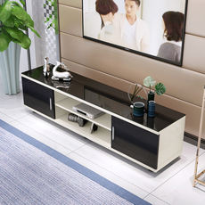 Tempered glass TV cabinet modern minimalist coffee table TV cabinet combination living room small apartment mini cabinet